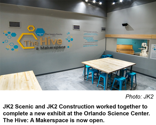 JK2 Construction, JK2 Scenic complete work on new Orlando Science Center exhibit
