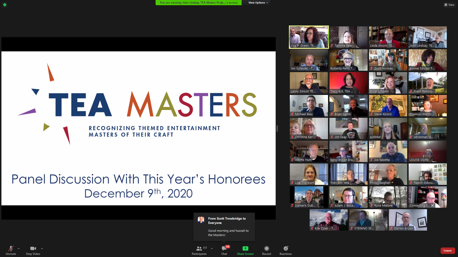 2020 TEA Masters Honored on December 9th - Looking Towards the Future