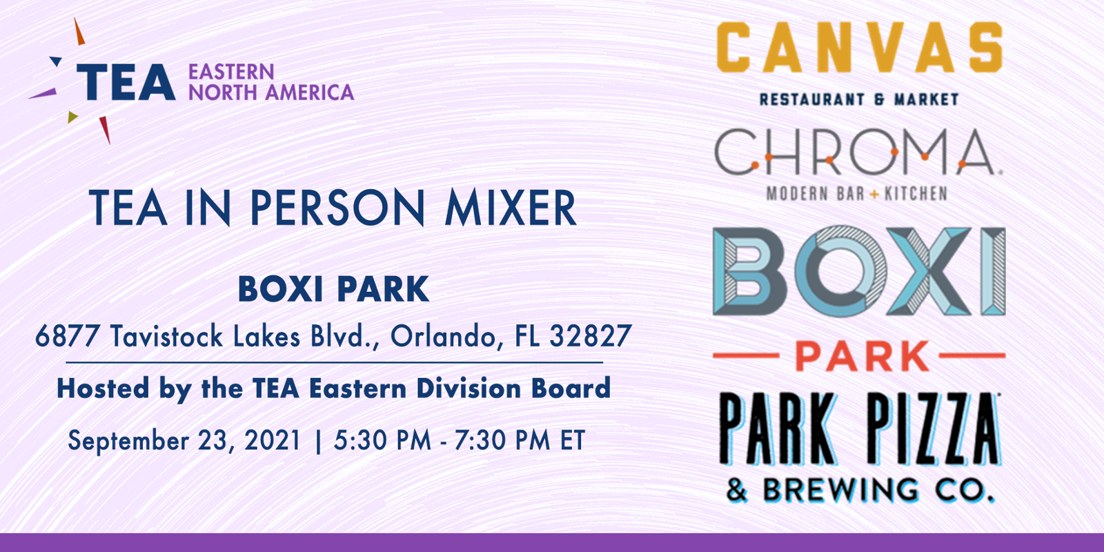 TEA Eastern Division In-Person Mixer at Boxi Park