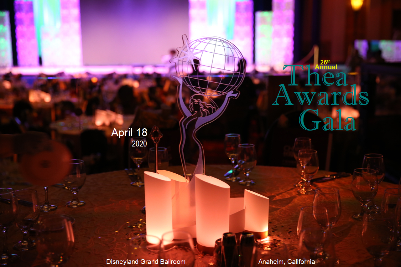 Tickets now on sale for 2020 TEA Summit & Thea Awards Gala - April 16-18 at Disneyland Resort