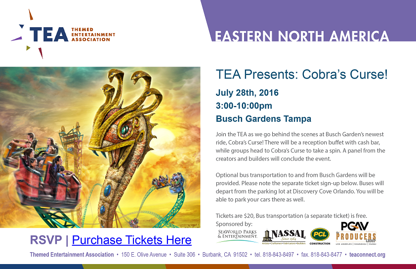 Busch Gardens Tampa Welcomed TEA To Experience New Cobrau0027s Curse Ride July  28   Brandi Monard Reports