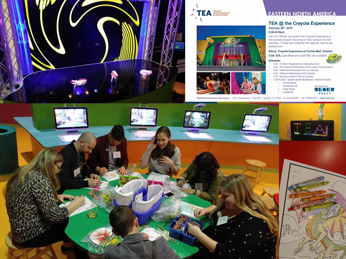 TEA group visits Crayola Experience in Orlando