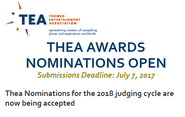 Thea Nominations Open 2017