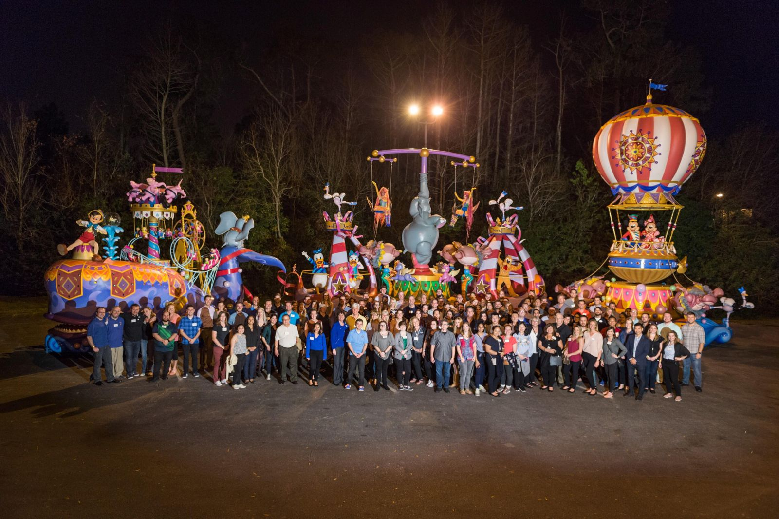 TEA members enjoy an evening with Disney Parks Live Entertainment in Orlando, Feb 2018