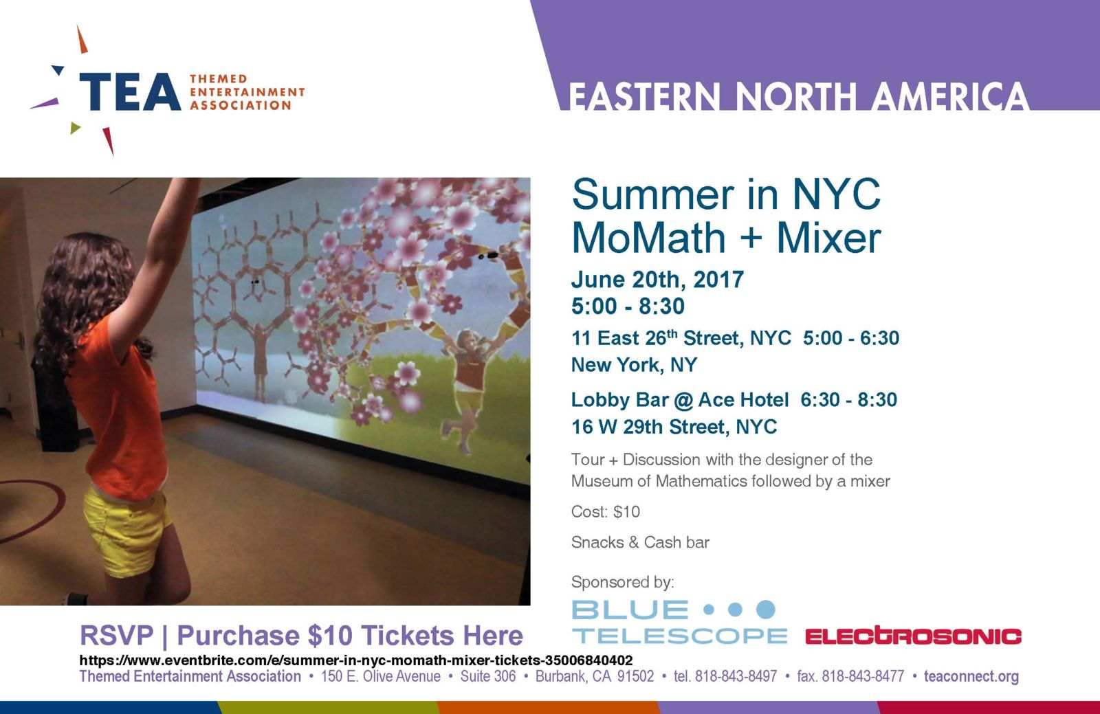 TEA Summer MoMath Tour