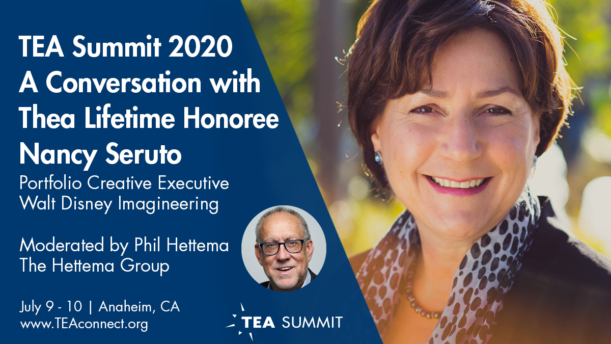 Nancy Seruto of WDI receives Buzz Price Thea lifetime honors and will speak at 2020 TEA Summit