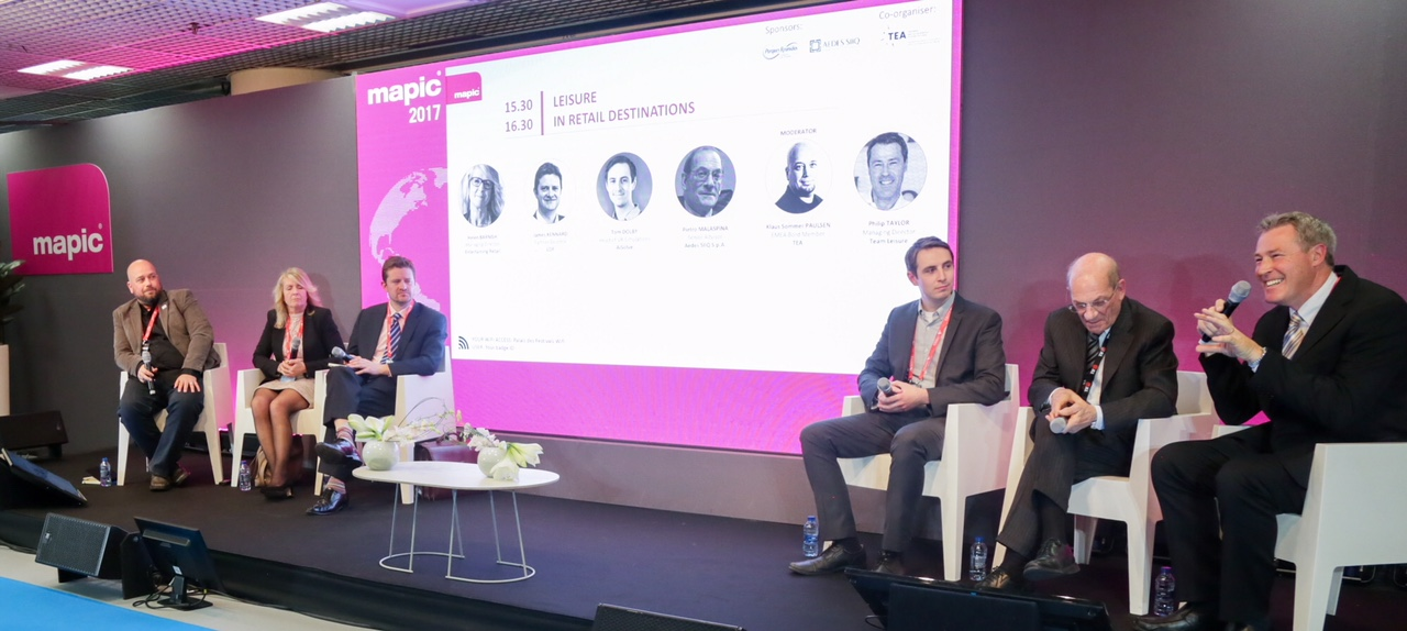 TEA-supported panels explore the integration of retail and leisure at MAPIC 2017