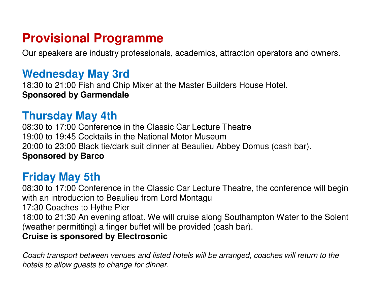 SATE Europe Provisional Programme
