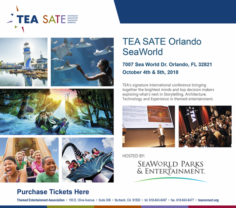TEA SATE Orlando - SeaWorld, Oct 4-5, 2018 - Tickets, co-chairs,