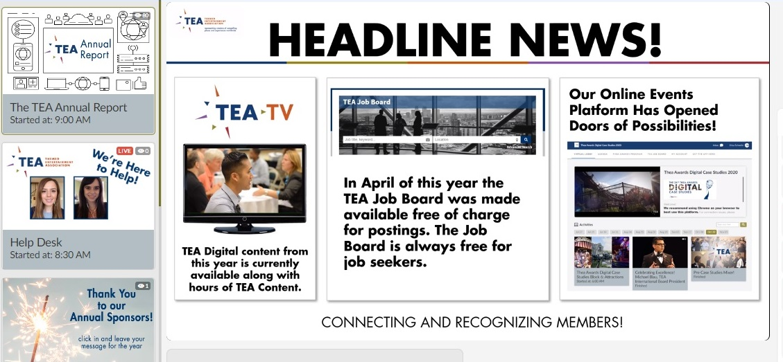 2020 TEA Member Meeting: Leadership transitions and Thea Awards announcement