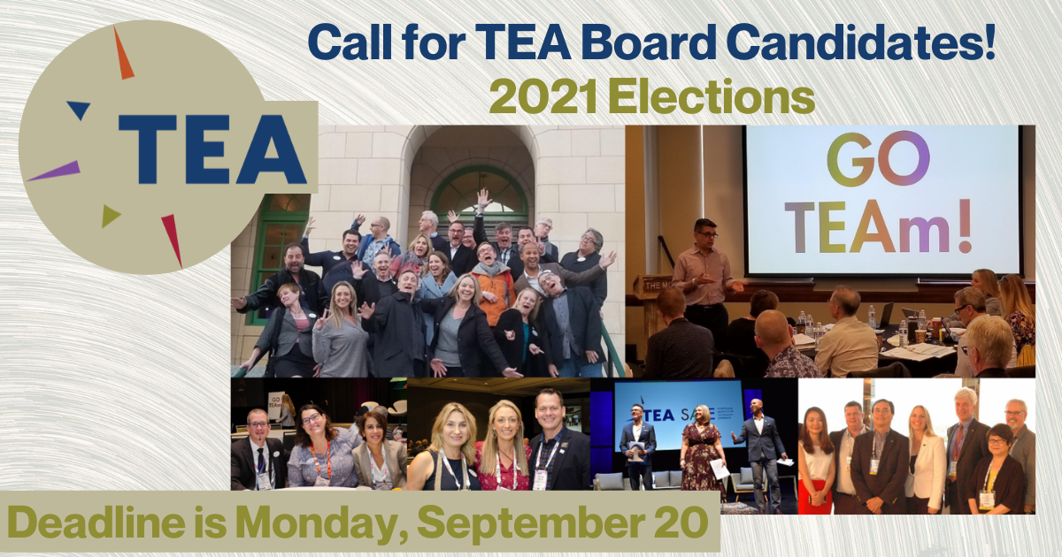 Call for TEA Board Candidates - 2021 Elections