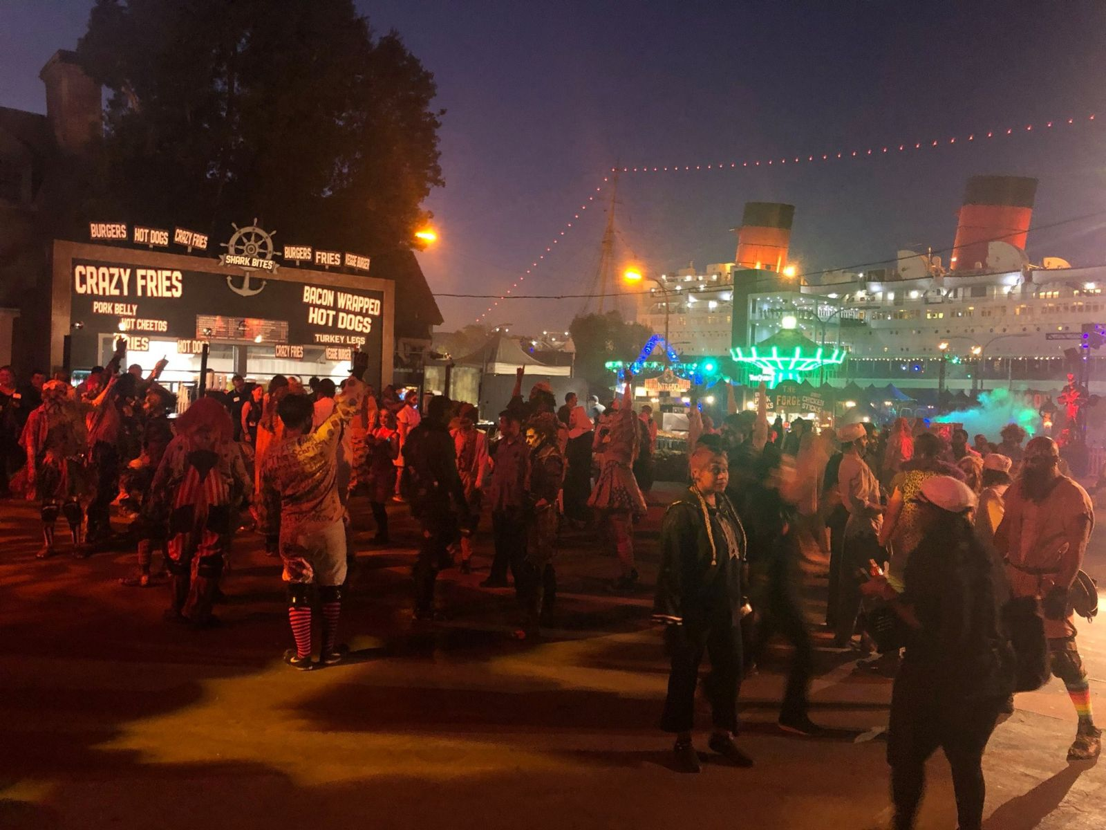 TEA Behind the Scenes at The Queen Mary's Dark Harbor - Kourtney Day reports